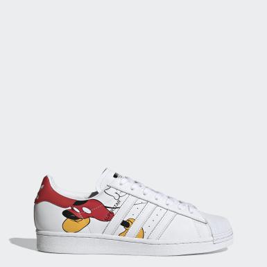 Scarpe Disney Mickey Mouse Superstar Bianco Originals