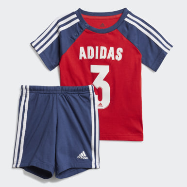 Infants Training Red Sport Summer Set