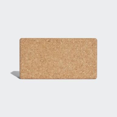желтый Блок для йоги Cork Yoga Block