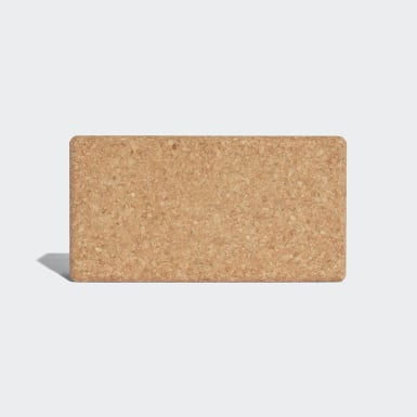 Women Yoga Beige Cork Yoga Block