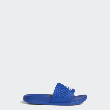 เด็ก ว่ายน้ำ สีน้ำเงิน รองเท้าแตะ adilette Cloudfoam Plus