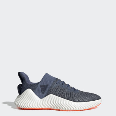 Men Training Blue Alphabounce Trainer Shoes