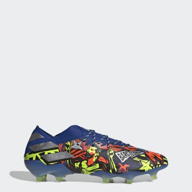 ผู้ชาย ฟุตบอล สีน้ำเงิน รองเท้าฟุตบอล Nemeziz Messi 19.1 Firm Ground