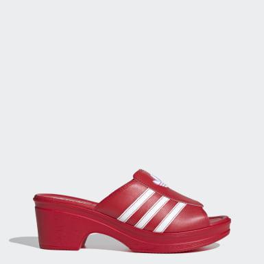 Frauen Originals Lotta Volkova Trefoil Mule Schuh Rot