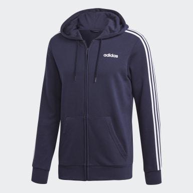 Muži Athletics modrá Tepláková bunda Essentials 3-Stripes