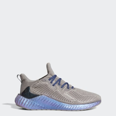 Men Running Grey Alphaboost Shoes