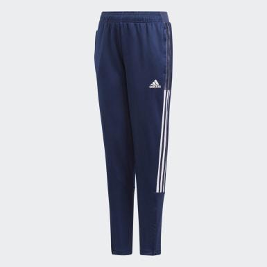 Pantalón de Entrenamiento Tiro 21 Azul Niño Fútbol