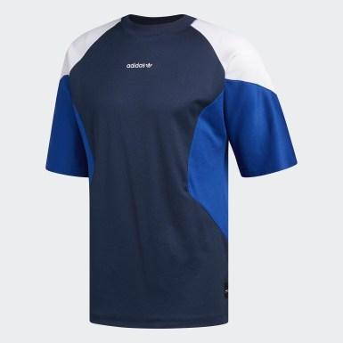 Camiseta EQT Curve Block Azul Homem Originals