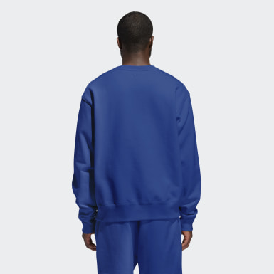 Sweat-shirt Pharrell Williams Basics Crew (Non genré) Bleu Originals