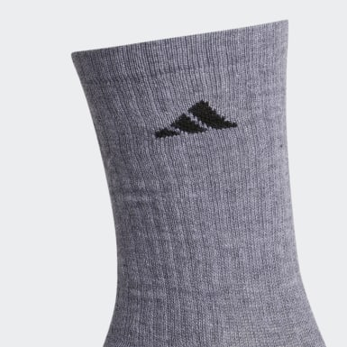 Men's Training Grey Cushioned Crew Socks 3 Pairs