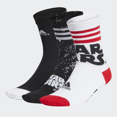 Kinder Training Star Wars Crew Socken, 3 Paar Schwarz