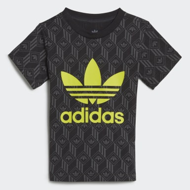 T-shirt Trefoil Nero Bambini Originals