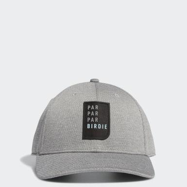 Men Golf Grey Par Par Par Birdie Snapback Hat