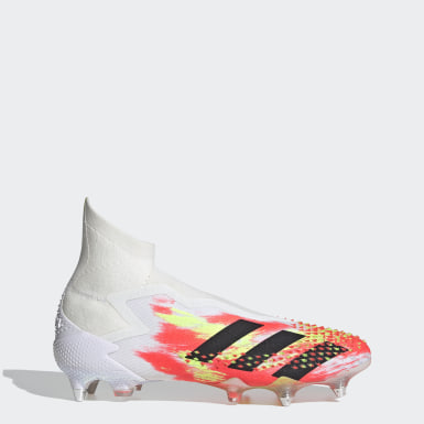 Football White Predator Mutator 20+ Soft Ground Boots