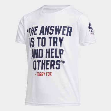 Youth Training White TERRY FOX QUOTE TEE YOUTH