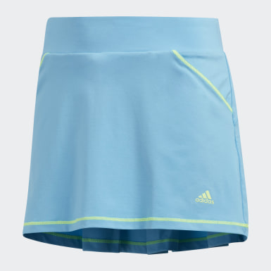 Girls Golf Turquoise Solid Pleat Skort