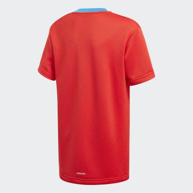 Kinder Training adidas x Classic LEGO Bricks Loose Fit T-Shirt Rot