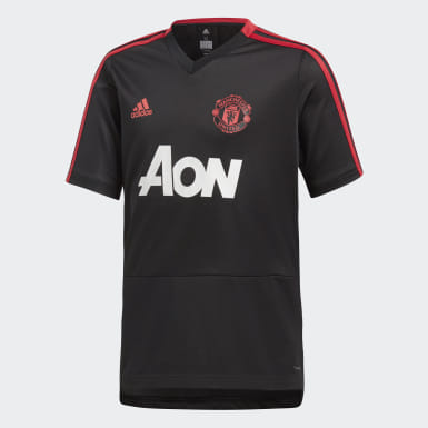 Genç Futbol Siyah Manchester United Antrenman Forması