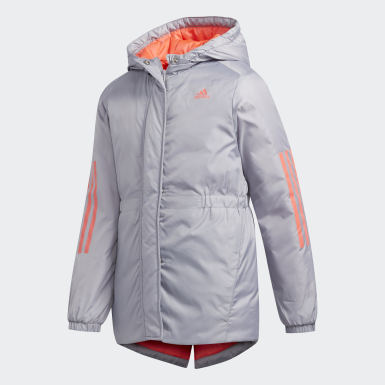 Girls Training Grey Insulated Jacket