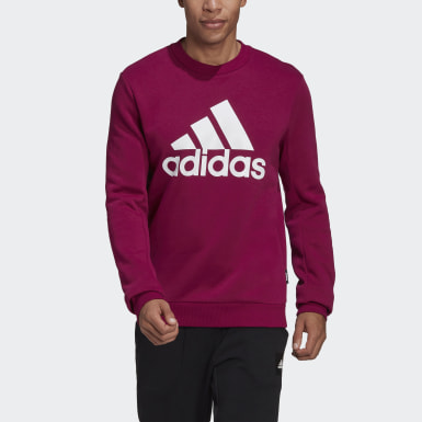 Sweat-shirt Badge of Sport Fleece Burgundy Hommes Essentials