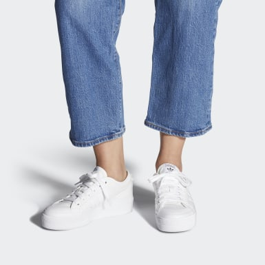 Women's Originals White Nizza Platform Shoes