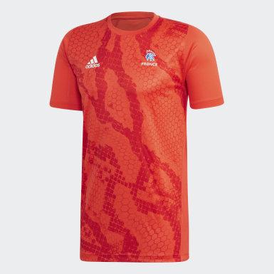 Camiseta entrenamiento Federación Francesa de Balonmano Rojo Hombre Balonmano