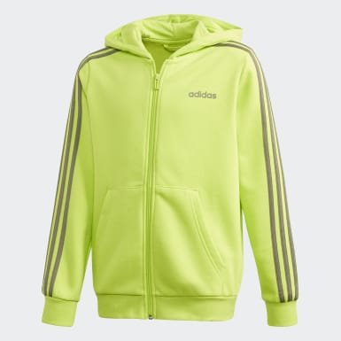 Boys Athletics Green Essentials 3-Stripes Hoodie