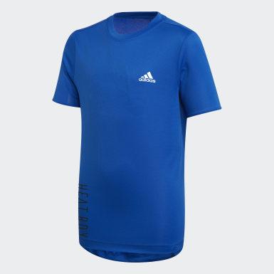 синий Футболка для фитнеса