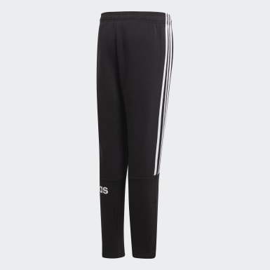 Boys Lifestyle Black 3-Stripes Jogger Pants