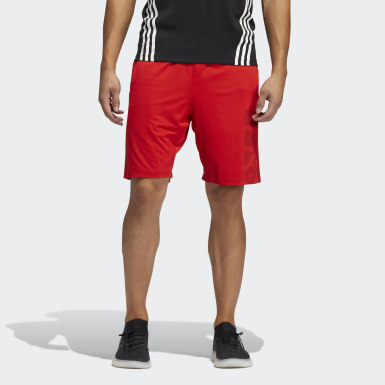 Men Training Red 4KRFT Sport Graphic Shorts