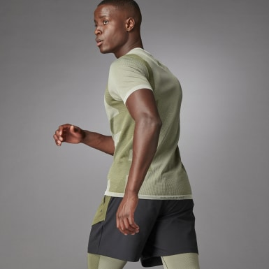 T-shirt Studio Techfit Seamless Short Sleeve Blanc Hommes Studio
