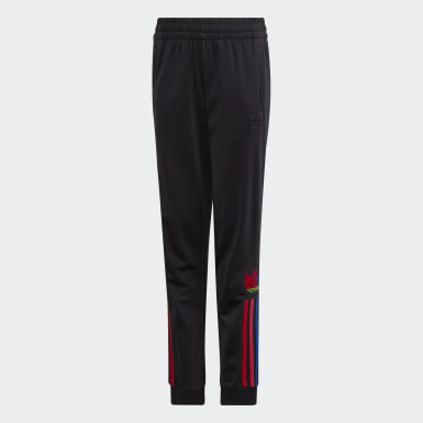 Youth 8-16 Years Originals Black Adicolor 3D Trefoil Tracksuit Bottoms