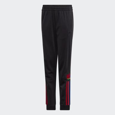 Pants Deportivos Trifolio 3D Adicolor (UNISEX) Negro Niño Originals