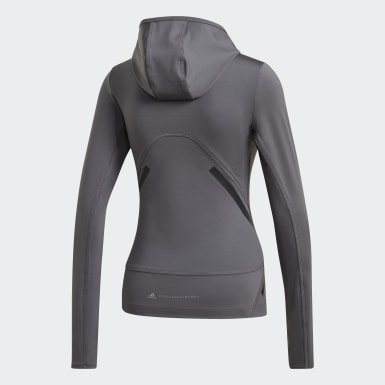 Haut TruePace Hooded Long Sleeve Midlayer gris Femmes adidas by Stella McCartney