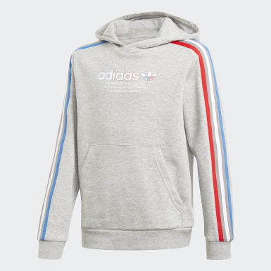 Kids Originals Grey Adicolor Hoodie