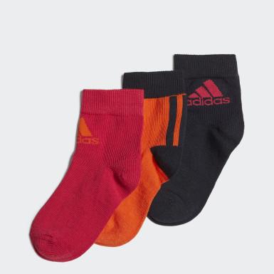 Děti Běh oranžová Ponožky Ankle – 3 páry