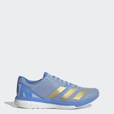 Women Running Blue Adizero Boston 8 Shoes