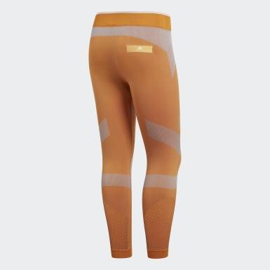 Mallas Seamless 3/4 Training Naranja Mujer adidas by Stella McCartney