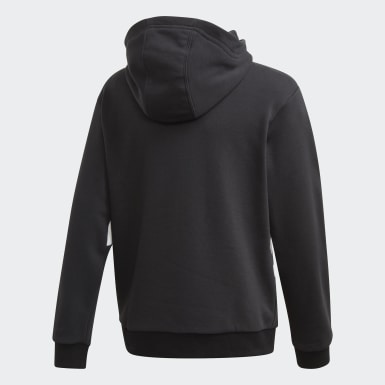 Kids Originals Black Big Trefoil Hoodie