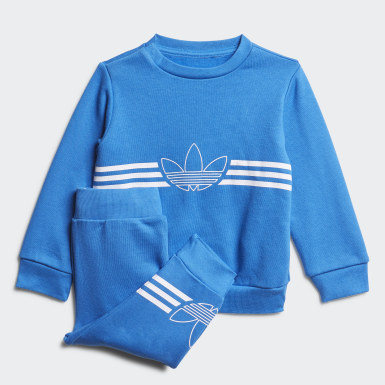 Outline Crewneck Set Niebieski