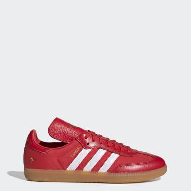 zapatillas hombre adidas rojas