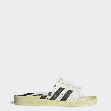 Men Originals White Adilette Superstar Slides