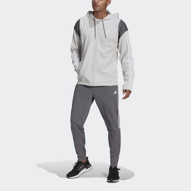 Chándal adidas Sportswear Ribbed Insert Gris Hombre Athletics