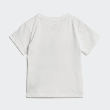 Kids Originals White Trefoil T-Shirt