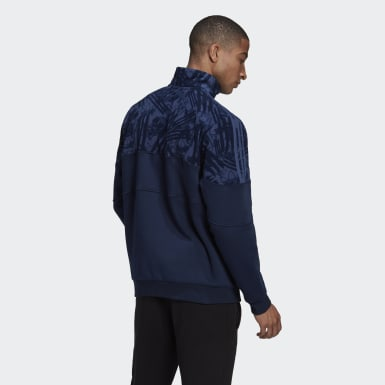 Herr Originals Blå BX-20 Quarter-Zip Track Top