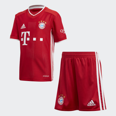 Kids 4-8 Years Football Red FC Bayern Home Mini Kit