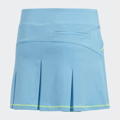 Girls Golf Turquoise Solid Pleat Skort