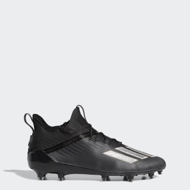 Men American Football Black Adizero Cleats