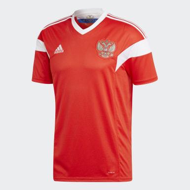 красный Домашняя игровая футболка сборной России