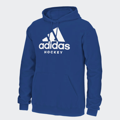 Men Hockey Blue Badge of Sport Hockey Hoodie